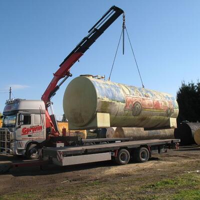 Transport eines Tanks