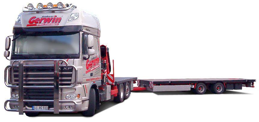 Lastkraftwagen der Spedition Gerwin